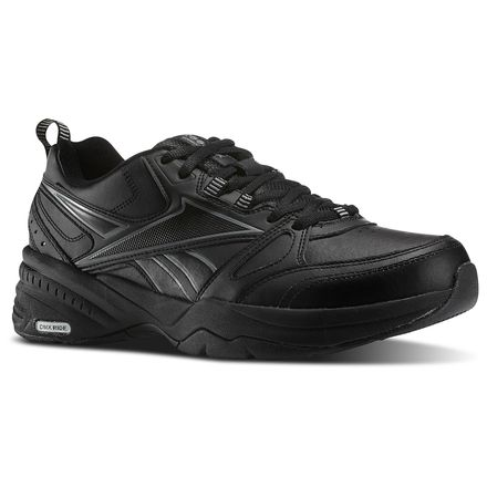 Reebok Royal Trainer 4E Men's Walking, Training Shoes in Black / Flat Grey