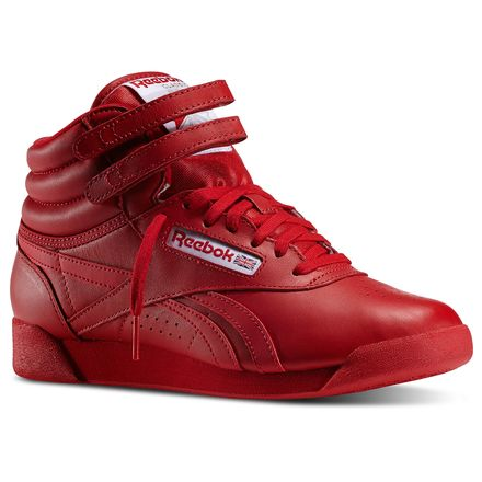 Reebok Freestyle Hi Spirit Women's Fitness Shoes in Excellent Red / White