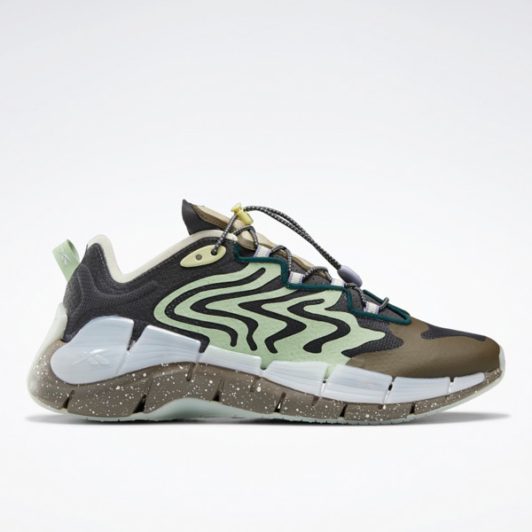 Reebok Unisex Braindead Zig Kinetica II Lifestyle Shoes in Grey / Green