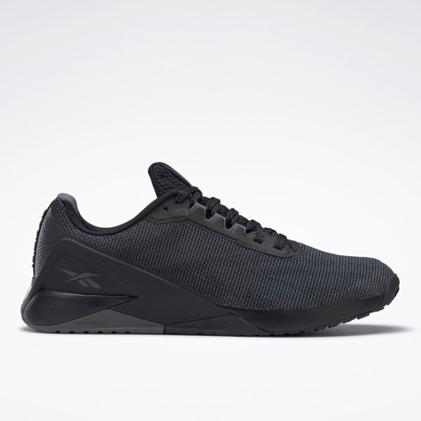 Reebok Nano X1 Men's Grit Cross, HIIT Training Shoes in Black / Grey