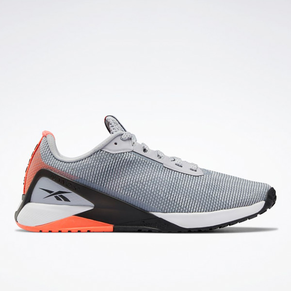 Reebok Nano X1 Women's Grit Cross, HIIT Training Shoes in Grey / Orange