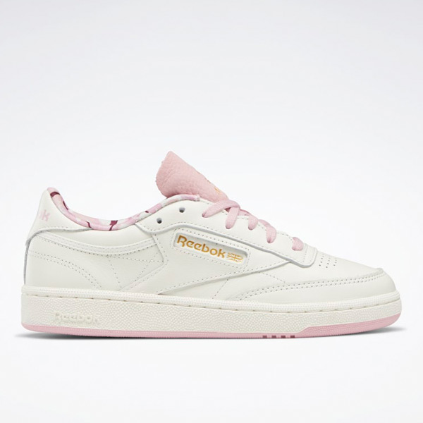 Reebok Women's Club C 85 Court Shoes in Chalk White / Pink