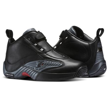 Reebok Answer IV - Limited Edition Men's Basketball Shoes in Black / Rivet Grey / Excellent Red