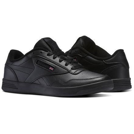 Reebok Club MEMT Men's Court Shoes in Black / Dark Grey Heather / Solid Grey
