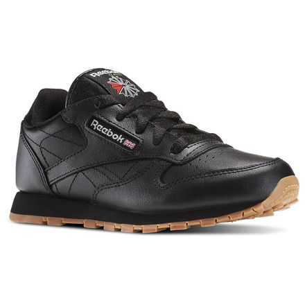 Reebok Classic Leather - Pre-School Kids Unisex Shoes Black / Gum