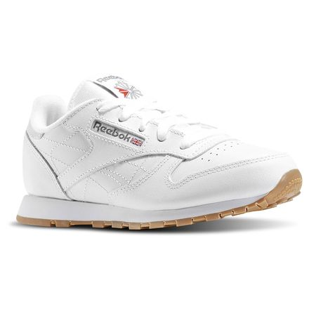 Reebok Classic Leather - Pre-School Kids Unisex Shoes White / Gum