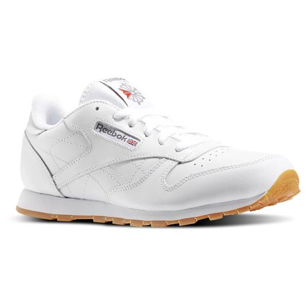 Reebok Classic Leather - Grade School Kids Unisex Shoes White / Gum