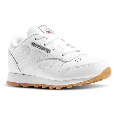 Reebok Classic Leather - Infant & Toddler Kids Unisex Shoes White / Gum