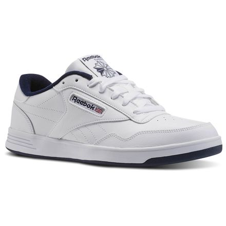Reebok Club MEMT Wide 4E Men's Shoes White / Collegiate Navy