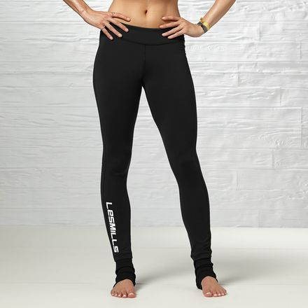 Women's Black LES MILLS Rib Tight - Reebok