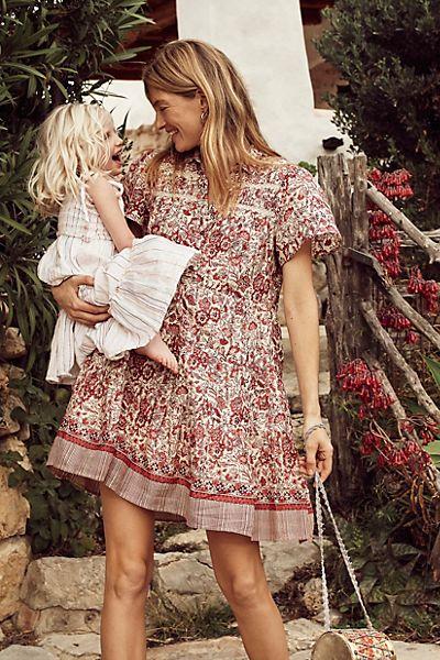 "Anthropologie Mini Dress ""Georgina Tiered Shirtdress"""