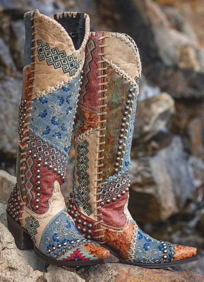 "Old Gringo Tall Western Boots ""Blow Out"""