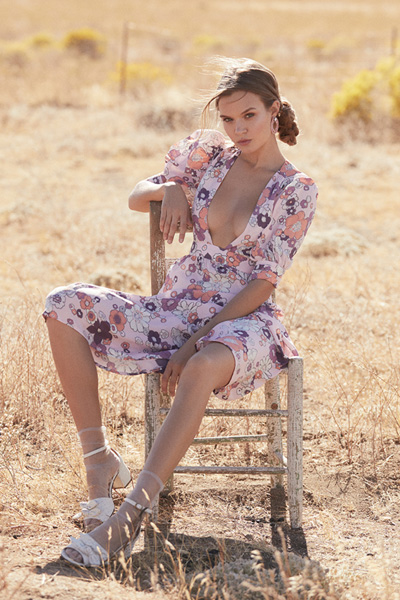 "For Love & Lemons Bohemian Floral Maxi Dress ""Magnolia"""
