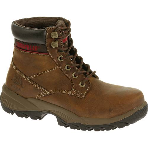 "CAT Dryverse 6"" Waterproof Steel Toe Work Boot - Women - Dark Brown"