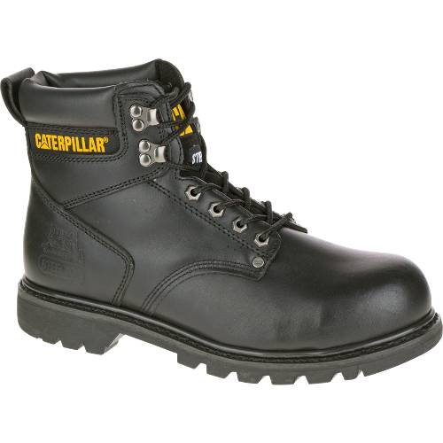 CAT Second Shift Steel Toe Work Boot - Men - Black