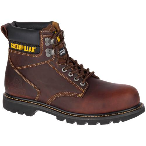CAT Second Shift Steel Toe Work Boot - Men - Brown