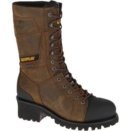 CAT Casebolt Waterproof TX Steel Toe Work Boot - Men - Dark Brown