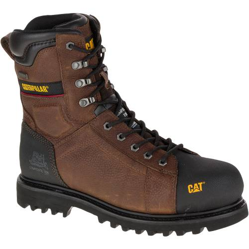 "CAT Control 8"" Waterproof TX Composite Toe Work Boot - Men - Oak"