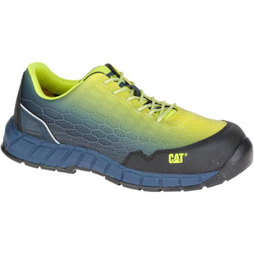 CAT Expedient Composite Toe Work Shoe - Men - Midnight Blue / Green