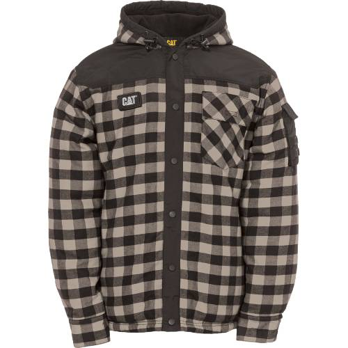 CAT SEQUOIA SHIRT JACKET - Men - Grey Buffalo Plaid