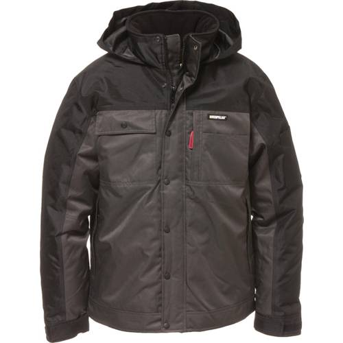 CAT Insulated Twill Jacket - Men - Graphite / Black