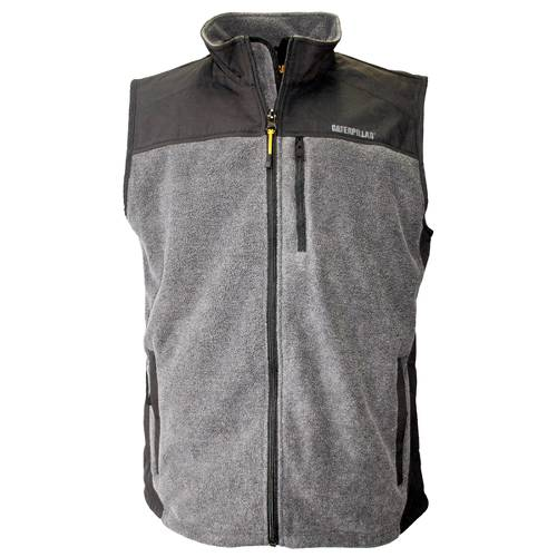CAT Momentum Fleece Vest - Men - Dark Heather Grey