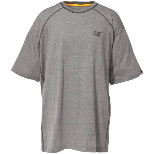 CAT Performance Short Sleeve Tee - Men - Heather Grey