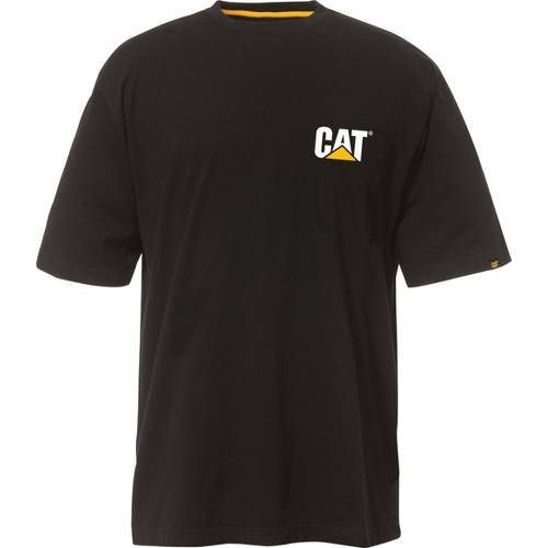 CAT Trademark Short Sleeve Tee - Men - Black