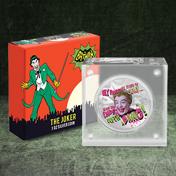 2020 The Joker 1oz Silver Coin DC Comics Silver Collectible