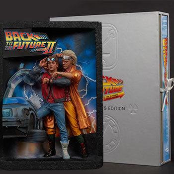 Back to the Future Sculpted Movie Poster and The Ultimate Visual History Collectors Edition