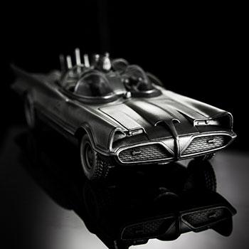 Batman 80th Classic Batmobile Replica DC Comics Pewter Collectible