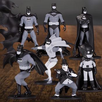Batman Black & White Set of 7 Mini Figures DC Comics Collectible Set
