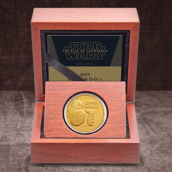 BB-8 & D-O Gold Coin Star Wars Gold Collectible