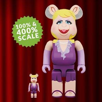 Bearbrick Miss Piggy 100 and 400 Disney Collectible Set