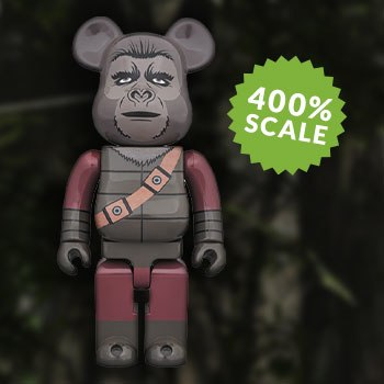 Bearbrick Soldier Ape 400 Planet of the Apes Figure