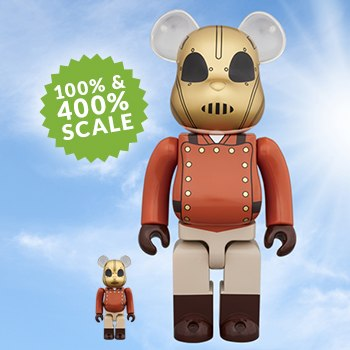 Bearbrick The Rocketeer 100 and 400 Rocketeer Collectible Set
