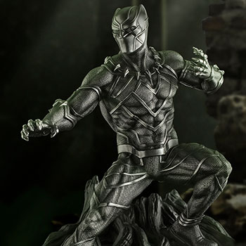 Black Panther Guardian Figurine Marvel Pewter Collectible