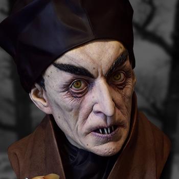 Classic Painted Nosferatu Nosferatu Life-Size Bust