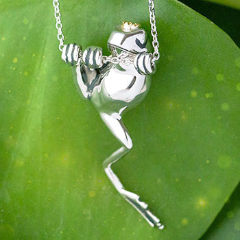 Crowned Frog Necklace Disney Jewelry
