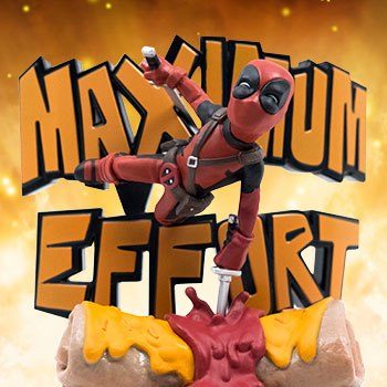 Deadpool Maximum Effort Q-Fig Max Marvel Diorama