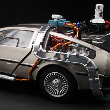 DeLorean Time Machine Back to the Future Collectible Figure