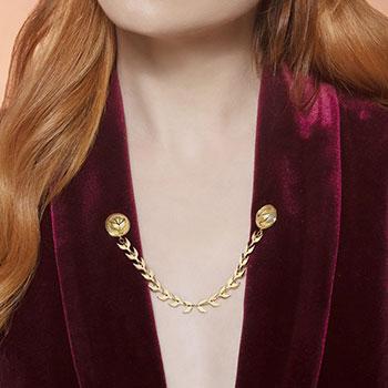 Disney's Frozen 2 Anna Wheat Cloak Clasp Disney Jewelry