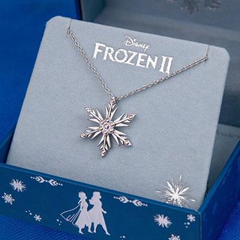 Disney's Frozen 2 Crystal Snowflake Pendant Disney Jewelry