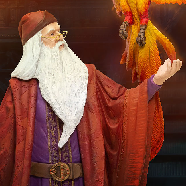 Dumbledore with Fawkes Harry Potter Figurine