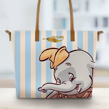 Dumbo with Stripes Tote Bag Disney Apparel
