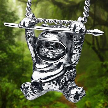 Ewok Slider Necklace Star Wars Jewelry