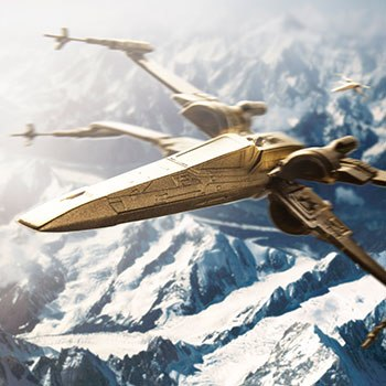 Gilt X-Wing Starfighter Star Wars Scaled Replica