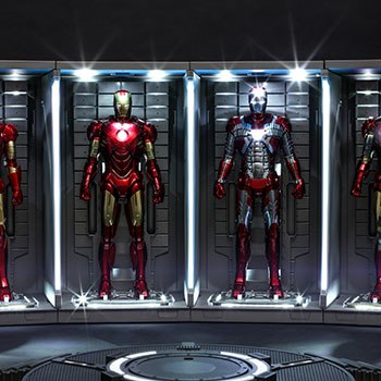 Hall of Armor Set of 4 Marvel Sixth Scale Figure Accessory