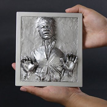Han Solo in Carbonite Mini Plaque Star Wars Statue