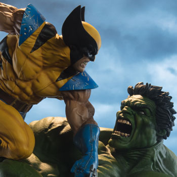 Hulk and Wolverine Marvel Maquette